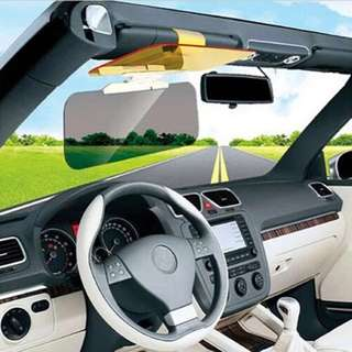 Car Sunshade Day Night Sun Visor Anti-glare Clip-on Driving Vehicle Shield RX