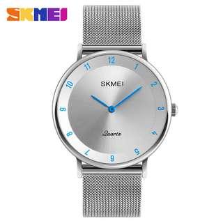 SKMEI Jam Tangan Analog Pria Stainless Steel - 1264 - Silver Blue