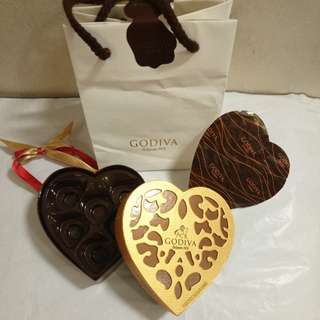 GODIVA Chocolate Empty Box 咭禮盒連白色紙袋