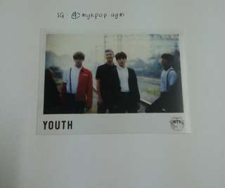 BTS YOUTH OFFICIAL SPECIAL PHOTOCARD