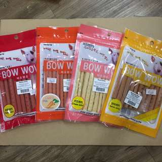 [2 FOR $13] Bow Wow Dog Treats! Made In KR Cheese Jerky