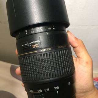 Lens tamron 70-300mm for canon