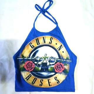 Guns N Roses Cropped Halter