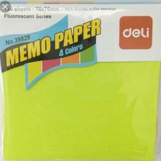 Deli Memo Paper Green