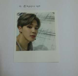 BTS JIMIN WINGS OFFICIAL PHOTOCARD