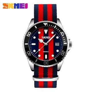 SKMEI Jam Tangan Analog Pria - 9133C - Black/Red