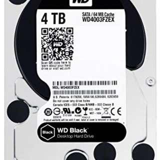 Western Digital black 4TB harddisk