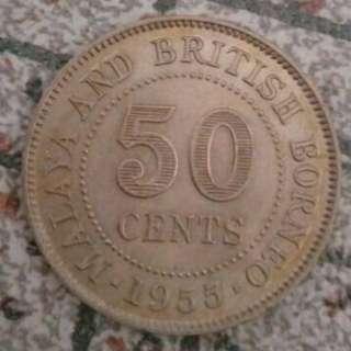1956 Malaya & British Borneo 50¢