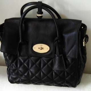 Mulberry Cara style black backpack