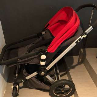 Pram - vintage bugaboo with new born accessories