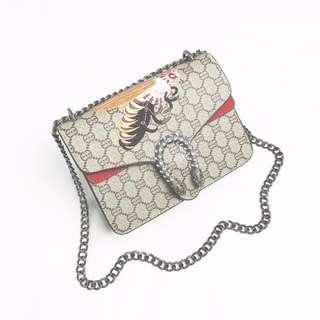 Brand Designer monogram bee metal chain shoulder sling handbag 3 in 1 local seller