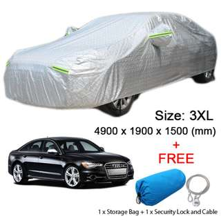3XL Size FULL Car Cover Outdoor Sun Protection Dust Protect For Sedan Car