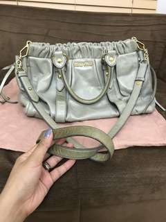 Miu Miu Gray 2 way bag