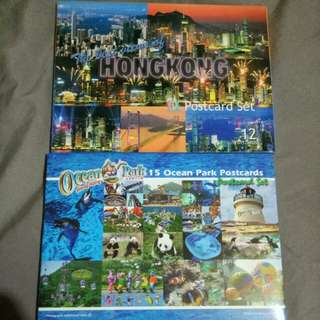 Postcards Set - Ocean Park 15pcs & the best of HK views 12pcs