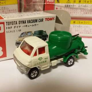 Tomica Tomy Tomy車 no 18 號 1:68 ToyotaDyna Vacuum Car 日本製 洗街車