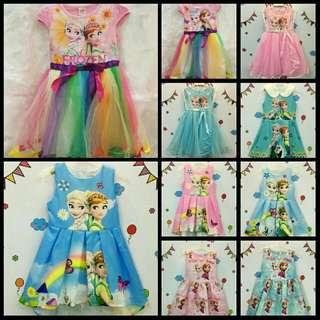 Kids frozen and sofia dress