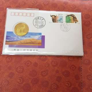 Lhasa, Tibet Wild Goat  First Day Cover