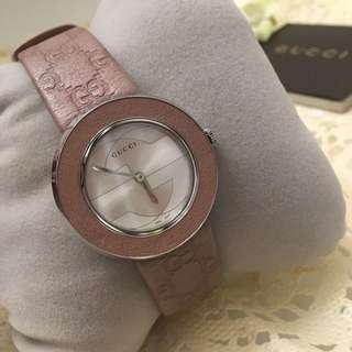 Gucci 女裝腕錶 真皮錶帶 極新