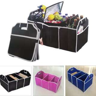 CAR TRUNK CARGO STORAGE ORGANIZER BOX LOCKERS BAG HIGH CAPACITY