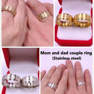Dad & mom couple ring
