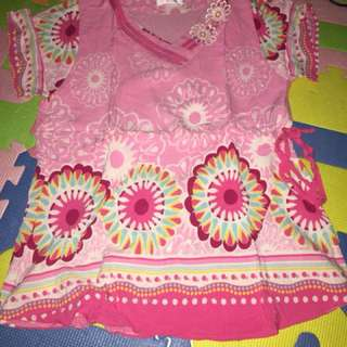 Lady blouse floral pink medium size