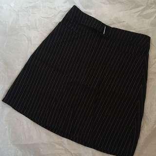 Akara Striped High Waist Skirt