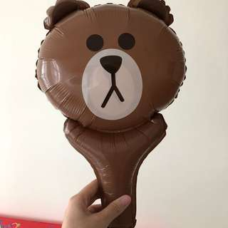 BN Line Friends Brown Handheld Balloon [20qty available]
