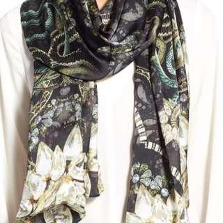 Ted Baker Jewel Print Long Silk scarf
