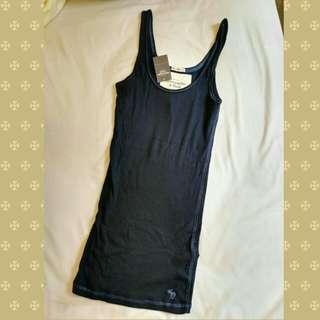 Abercrombie & Fitch (A&F) - 全新未拆牌女裝背心 - 藍色細碼