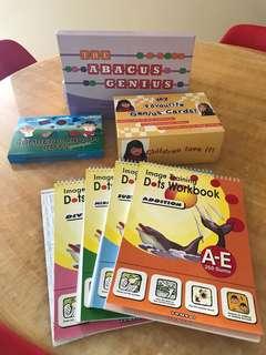 Abacus flashcard, memory card, random dot cards n dots workbook