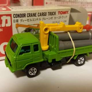 Tomica Tomy Tomy車 no 80 號 1:104 Condor Crane Cargo Truck 日產 日本製
