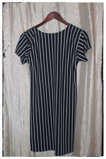 Black/White and Red/White Striped Dress