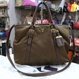 Prada BN 2527 Tessuto Vit Daino Large Shopping Bag