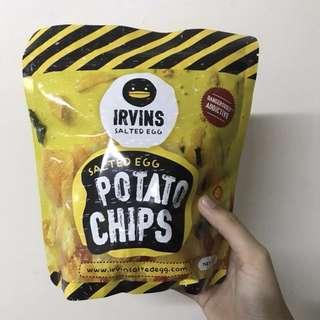 新加坡Ivrins鹹蛋薯片 105g 有現貨