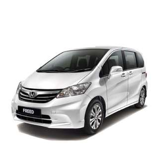 Uber/Grab car rental. Honda Freed Hybrid 1.5