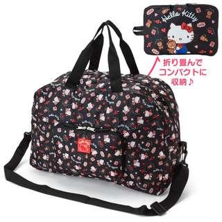 日本代購 sanrio 專門店 2018年 2月 hello kitty  折疊式 行李袋