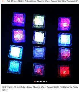 Repriced! Led ice cubes color change