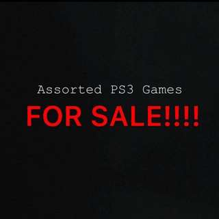Assorted Preowned PS3 Games!!!