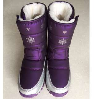 Elegant Miseo Girls Frosty Snow Boots Cold Weather Slip-resistant Shoes  – size 34