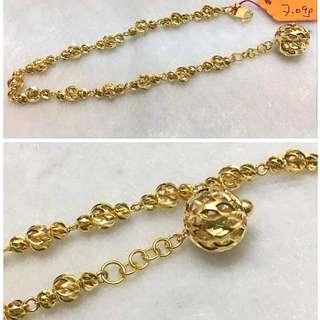 916 Gold bracelet up to 19.7cm