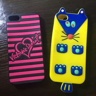 victoria secret original iphone 5/5s case + bonus misaki kawai case
