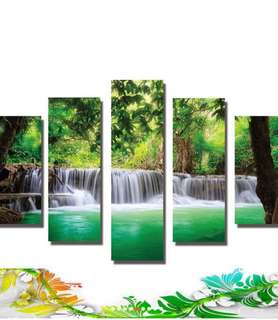 5pcs modern unframed canvass