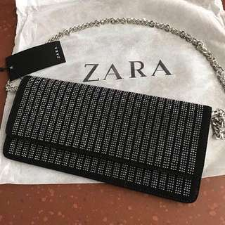 SALE ZARA SPARKLY CLUTCH ORIGINAL ✅