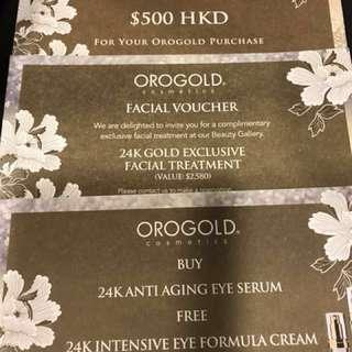 OROGOLD  $500 cash voucher 一套3張優惠