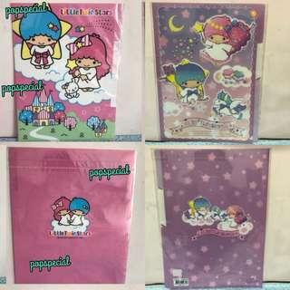 Last SET Left Little Twin Stars Clear A4 File Folder 3 slots Bundle