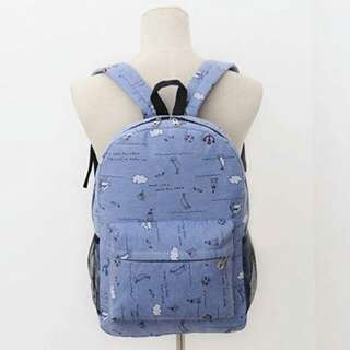 Korean Style Canvas Backpack