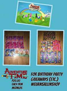 ADVENTURE TIME FOR BIRTHDAY PARTY GIVEAWAY