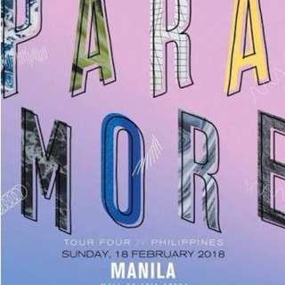 Looking for 2 VIP or Patron Paramore Tickets