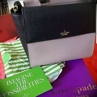 Authentic Kate Spade Satchel bag (with box and card)