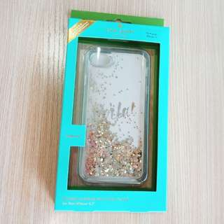 Kate spade authentic iphone 7 8 hard case glitter original